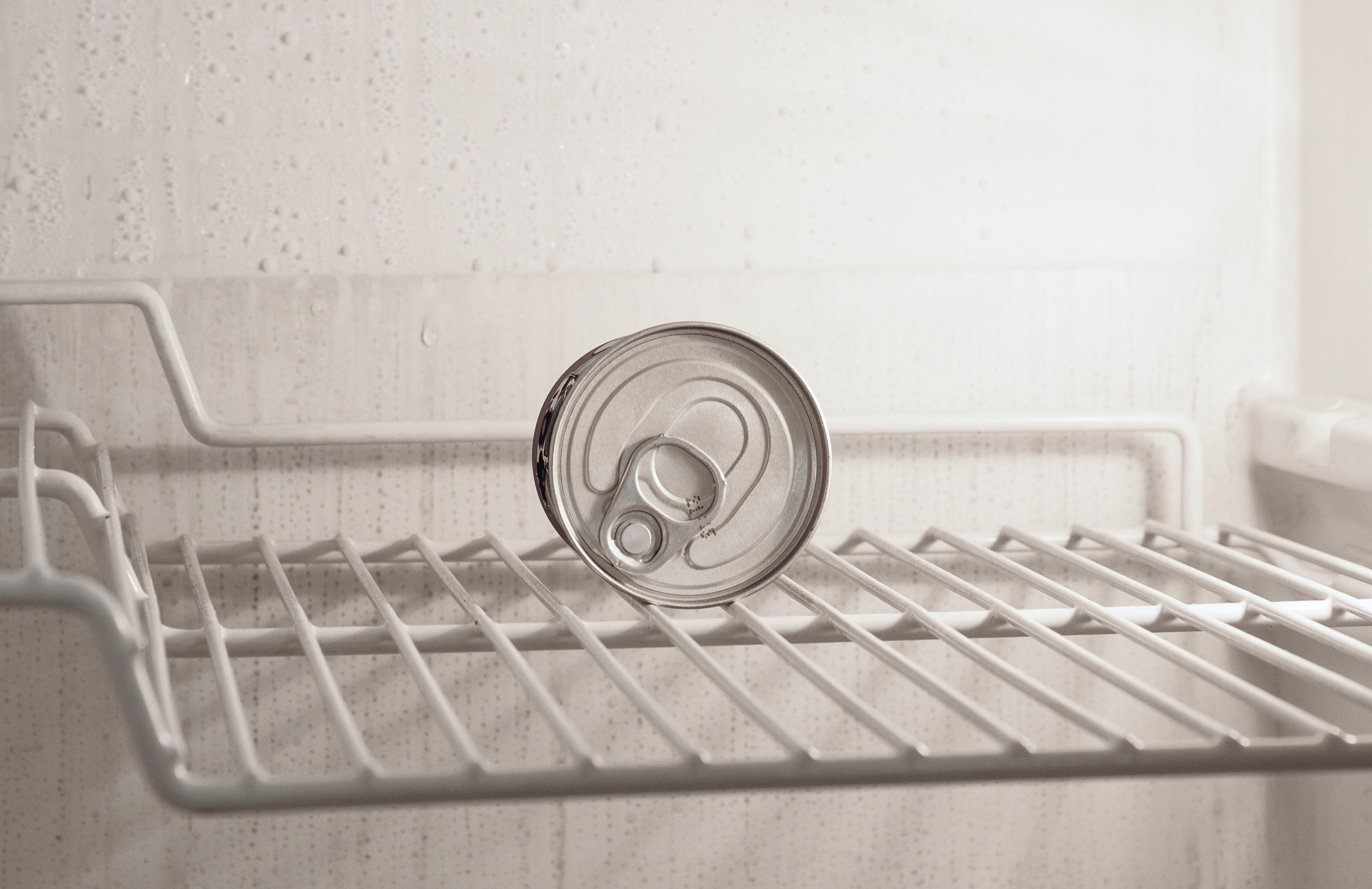 冷蔵庫の中身を子供に見せる